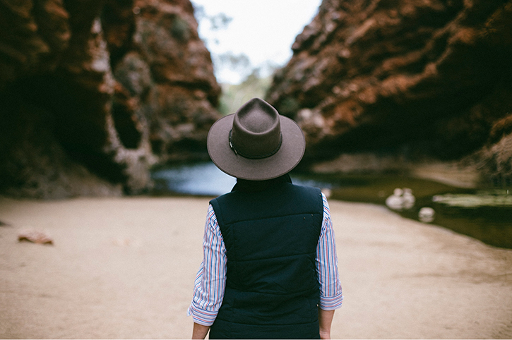 Man in Aussie Hat