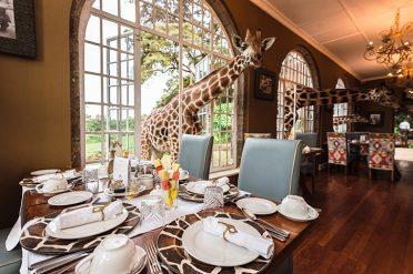 Breakfast with giraffes, Giraffe Manor