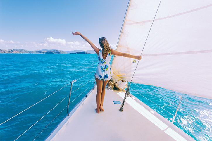 Girl Sailing Whitsundays