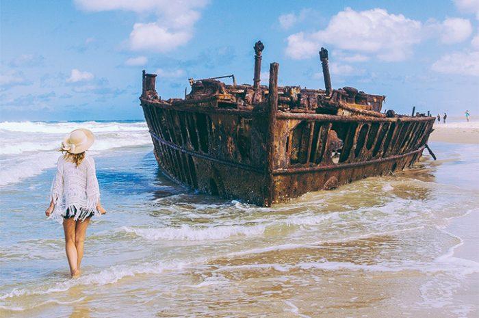 Girl at Fraser Island