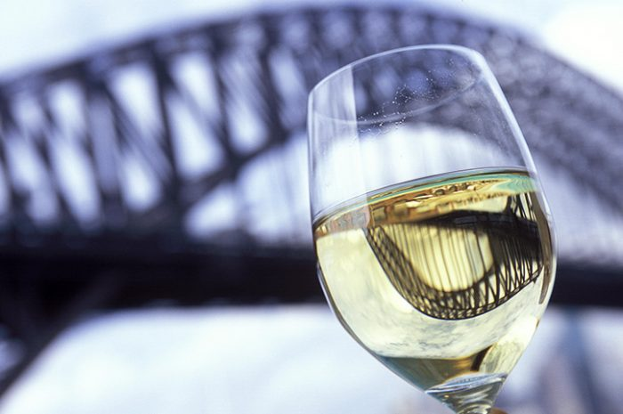 Glass Of Wine On Sydney Harbour Cruise