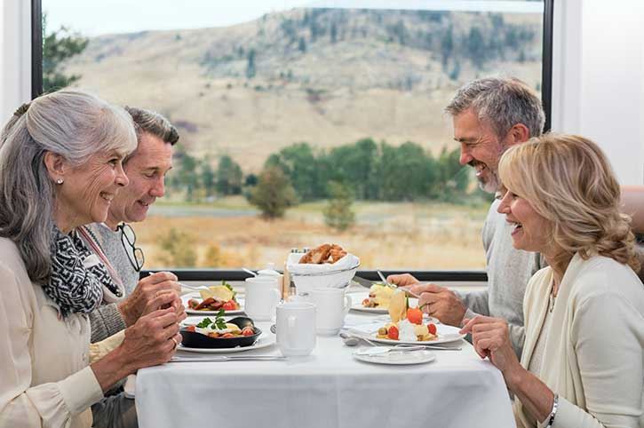 Gold Leaf Dining, Rocky Mountaineer