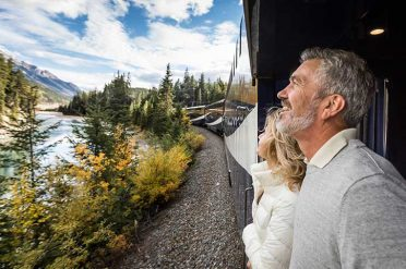 Outdoor viewing platform, Rocky Mountaineer