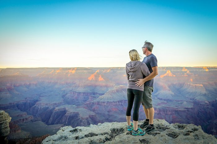 Couple, South Rim, Grand Canyon