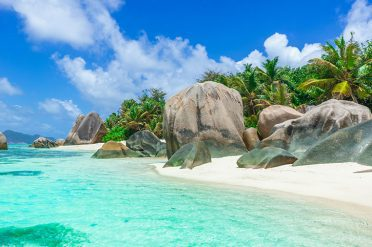 Granite Boulders in La Digue, Seychelles