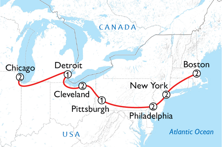 Great North Music Tour Map