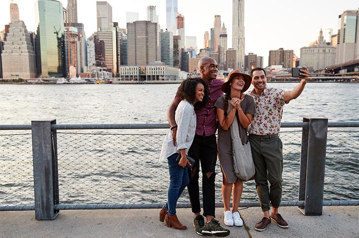 Friends in Manhattan, New York City
