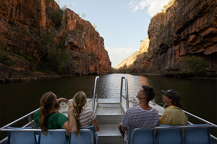 Group of Friends on a Katherine Gorge Boat Cruise