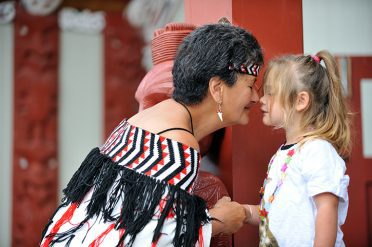 Te Puia Pa Woman and Child