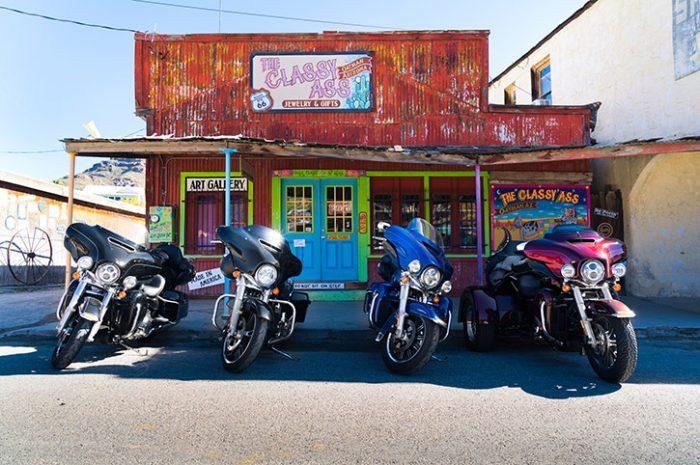 Lineup of Harley Davidson Touring Motorcycles