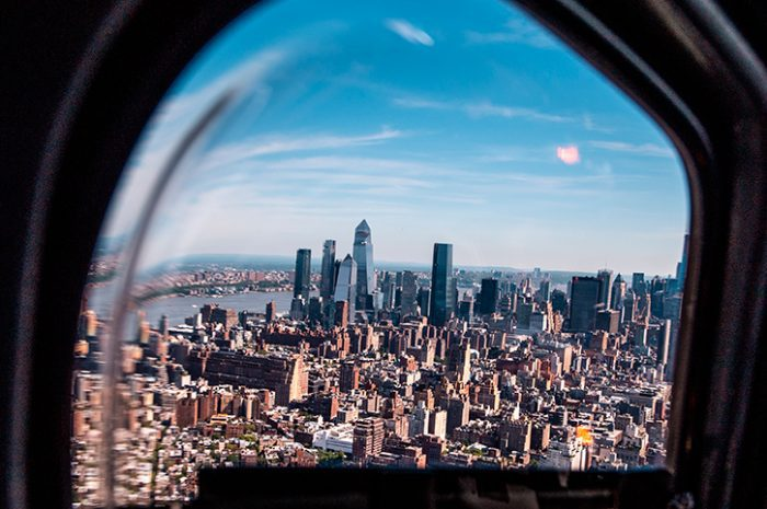Helicopter over New York, USA
