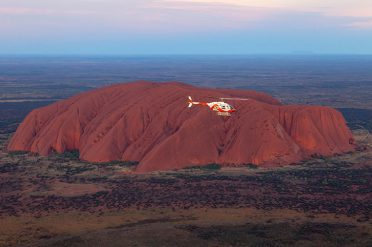Helicopter Over Ayers Rock, Northern Territory
