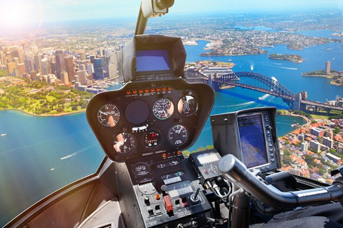 Helicopter Over Sydney Harbour