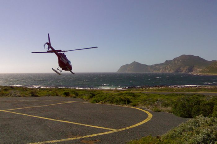 Helicopter Taking Flight, South Africa