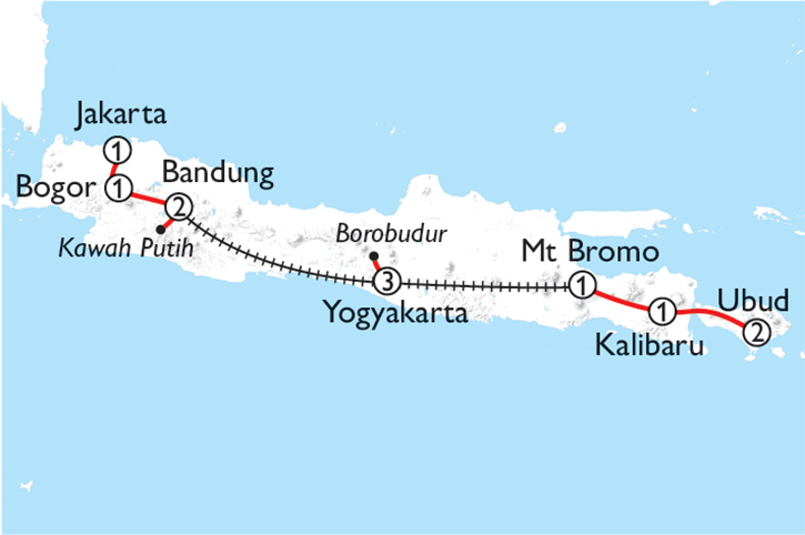 Highlights of Indonesia Map