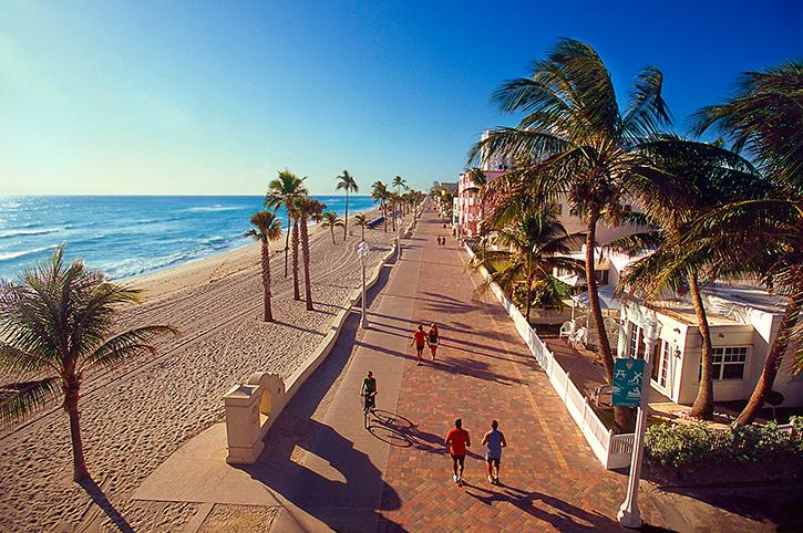 Hollywood Beach Broadwalk, Los Angeles