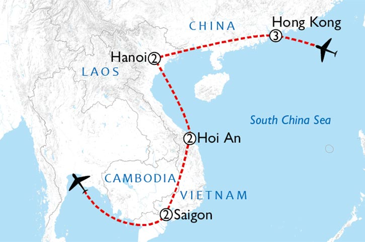 Hong Kong And Vietnam Discovery Map