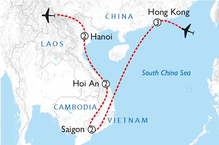 Hong Kong & Vietnam Discovery Map