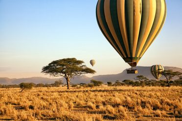 Hot air balloon, Serengeti National Park