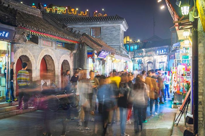 Hutongs By Night Beijing