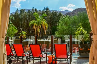 Hyatt Palm Springs Sunbeds