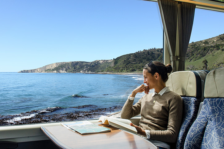 Coastal Pacific Lady on the Train