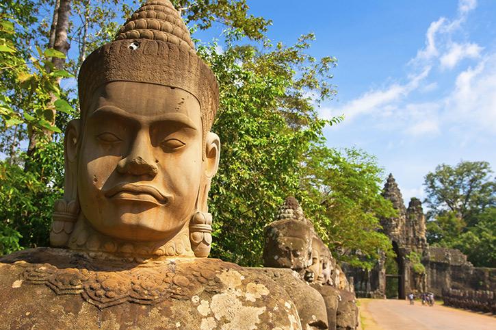 Bayon Statue, Siem Reap, Cambodia
