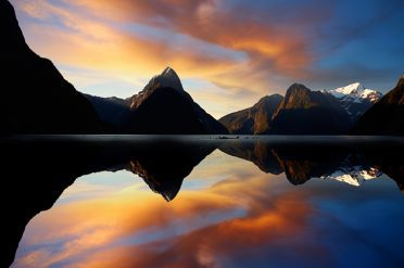 Milford Sounds Sunset