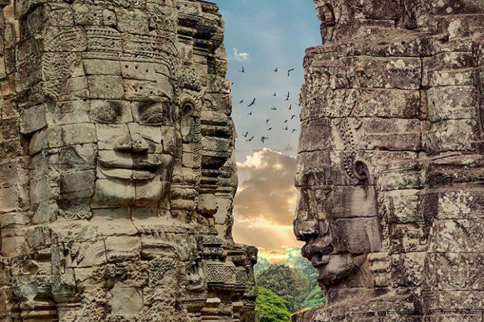 Faces of Bayon Angkor Thom