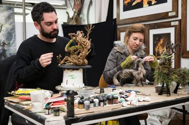 Weta Cave Workshop Tour Artists on stage