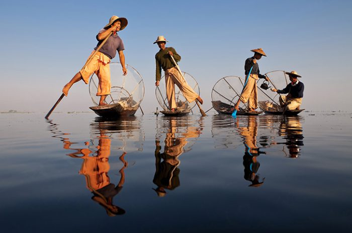 Fishermen Inle Lake Myanmar
