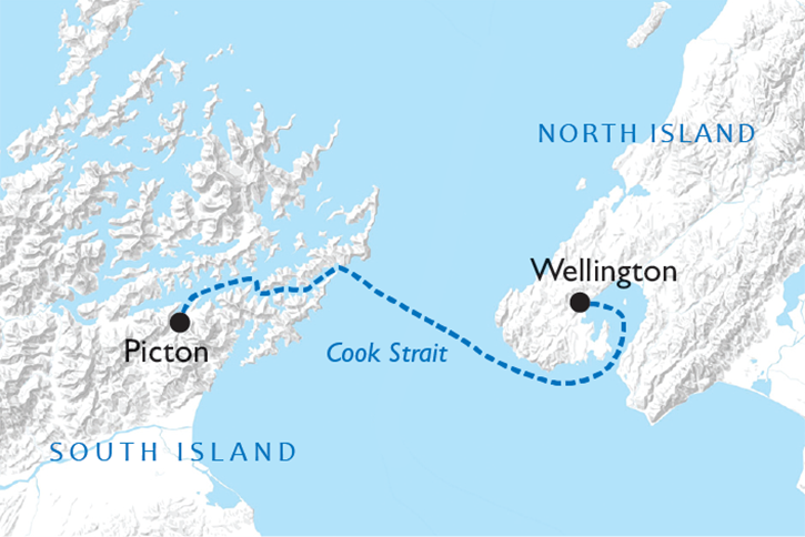 Interislander Ferry Map