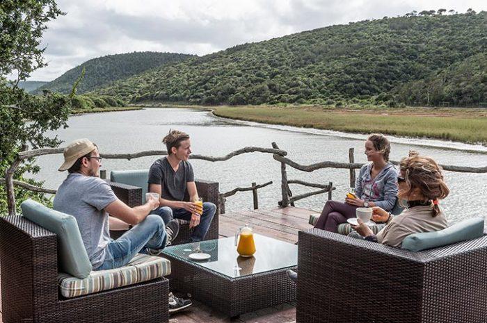 Kariega Game Reserve River View Lodge Deck Overlooking The Bushman River