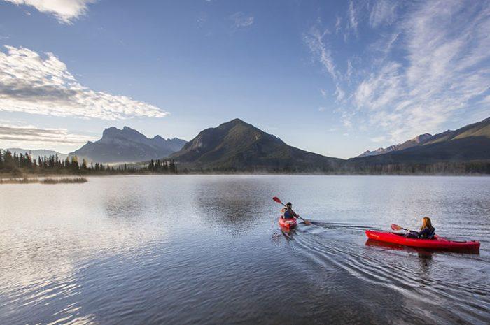 Kayaking Vermilion Lakes