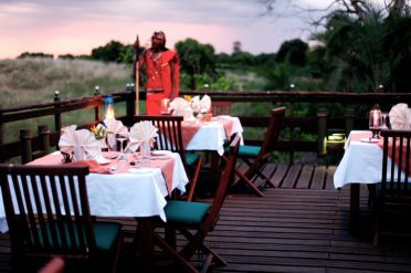 Keekorok Lodge Outdoor Dining