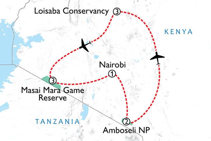 Kenya Sky Safari Map