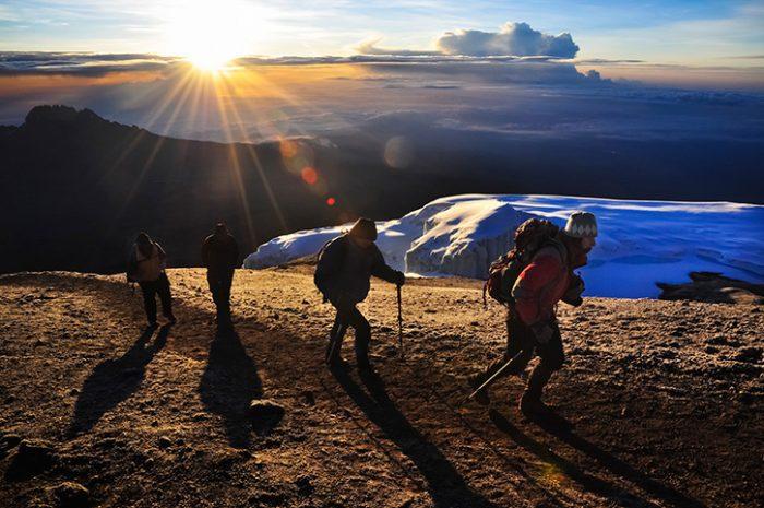 Kilimanjaro Climbers Sunset