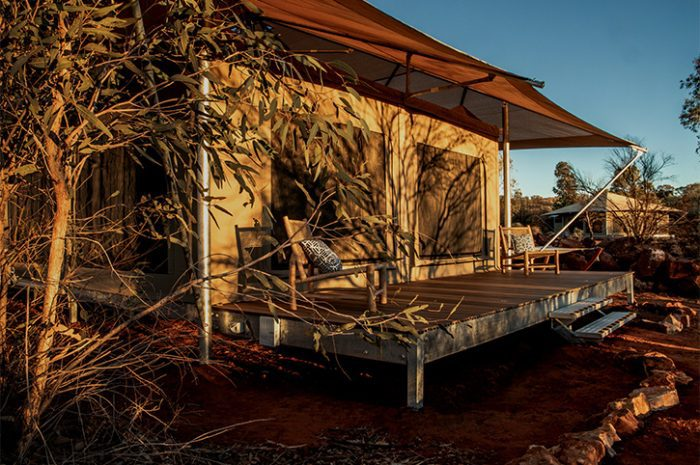 Kings Canyon Glamping Tent Balcony