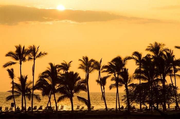 Sunset in Kona, Hawaii