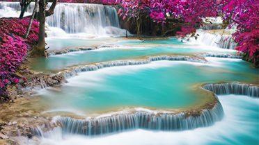 Kuang-Si-Waterfall,-Luang-Prabang,-Laos