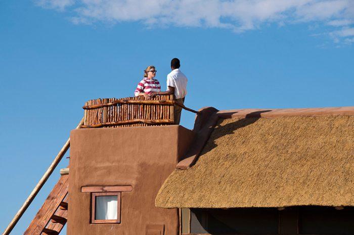 Kulala Desert Lodge rooftop terrace
