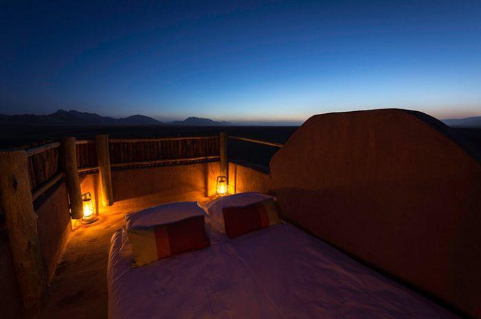 Rooftop sleepout, Kulala Desert Lodge