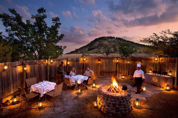 Evening Boma, Kwa Maritine Bush Lodge