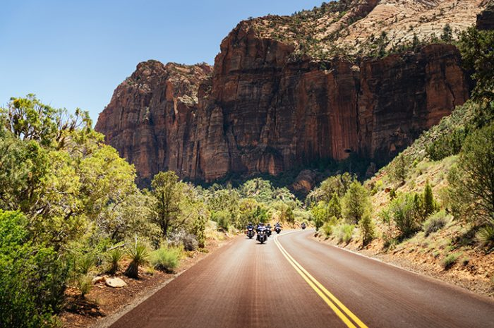 Motorcycle tour, Zion National Park