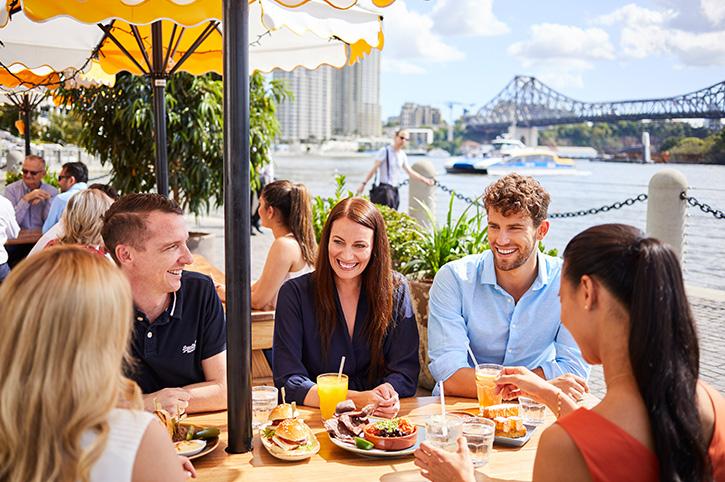 Lunch near Kangaroo Point, Brisbane