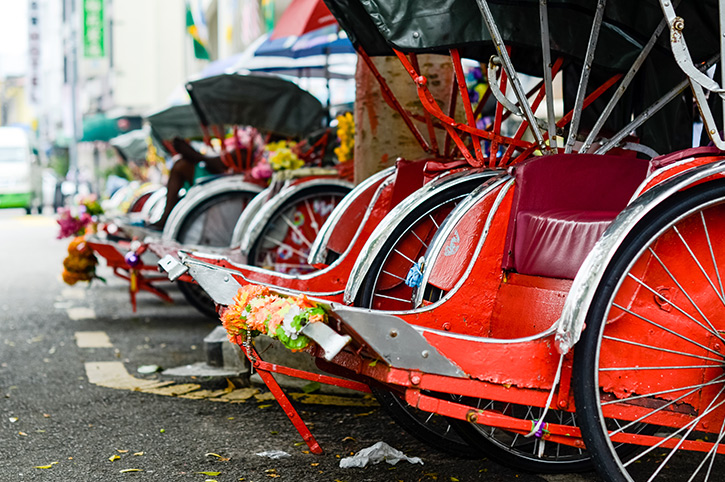 Trishaws in Georgetown
