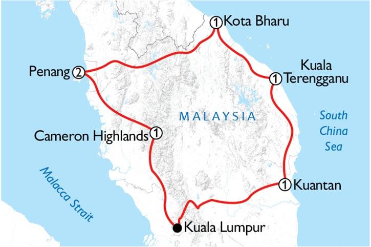 Malaysia Classic Map
