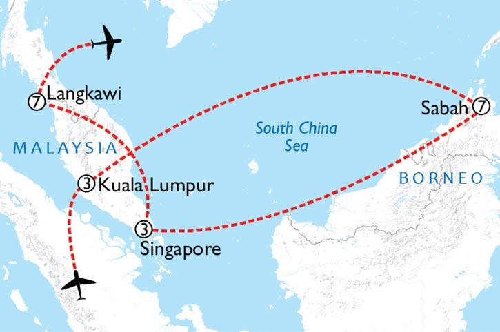 Malaysia Experience Map