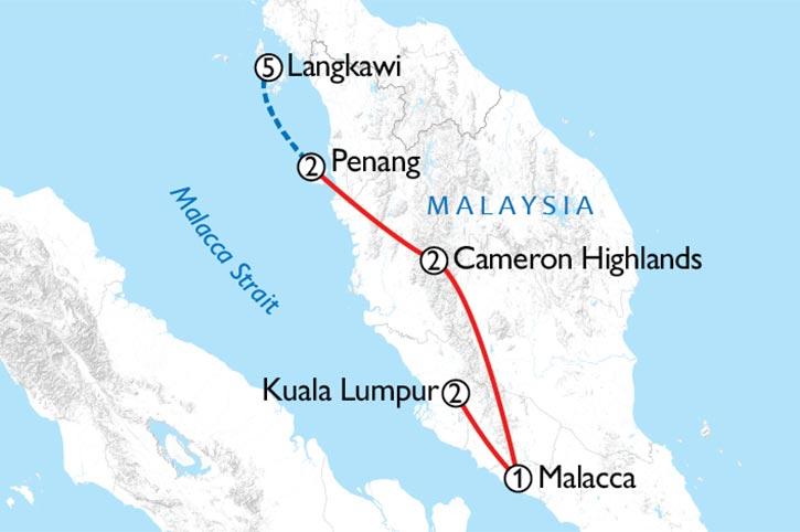 Malaysia Grand Tour Map