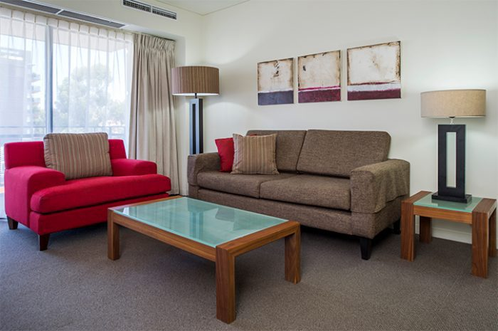 Mantra on Hay 2 Bedroom Apartment Living